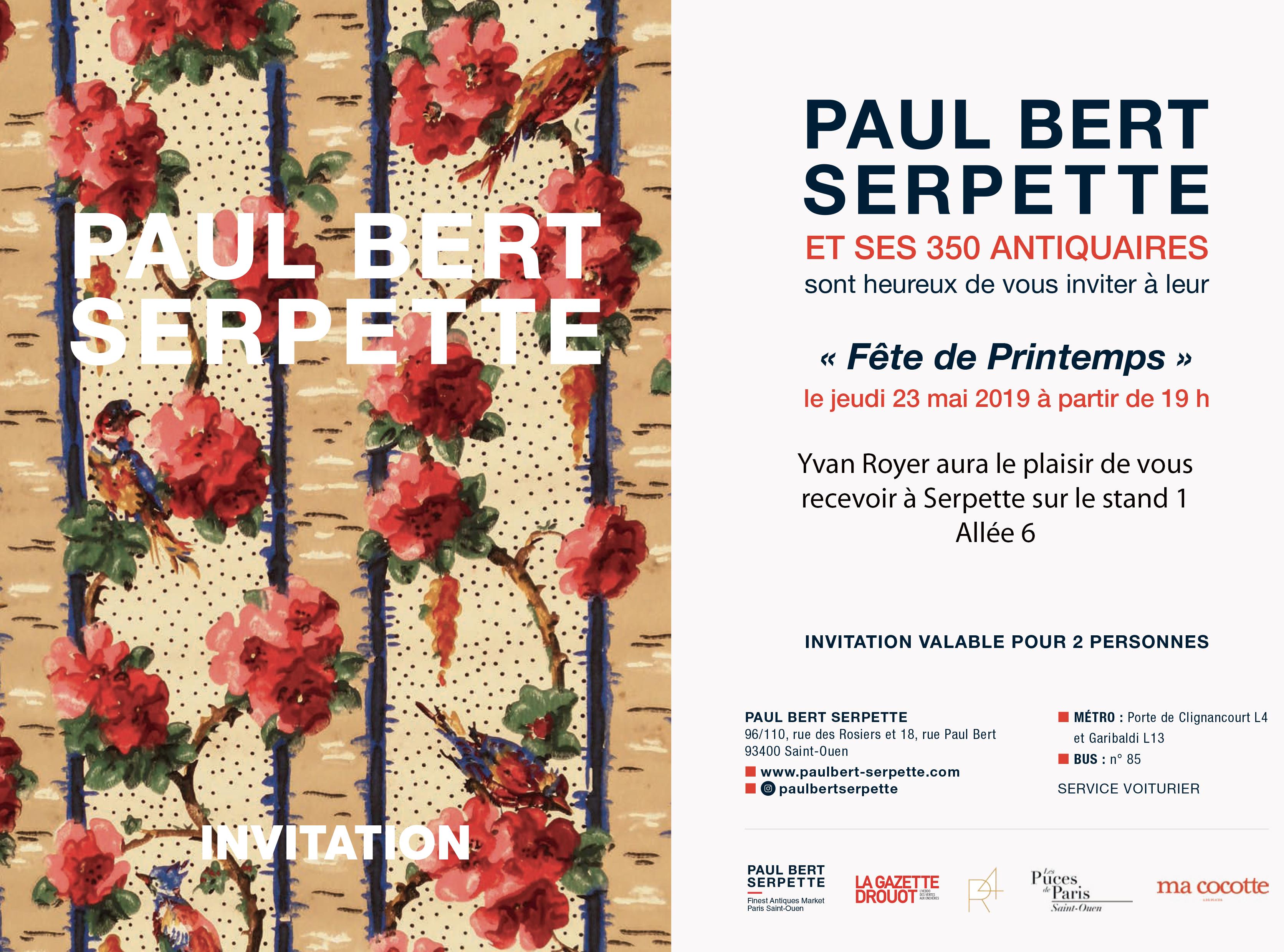Paul Bert Serpette Invitation 23 mai 2019 - Fete du Printemps WEB