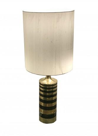 Grande lampe laiton doré