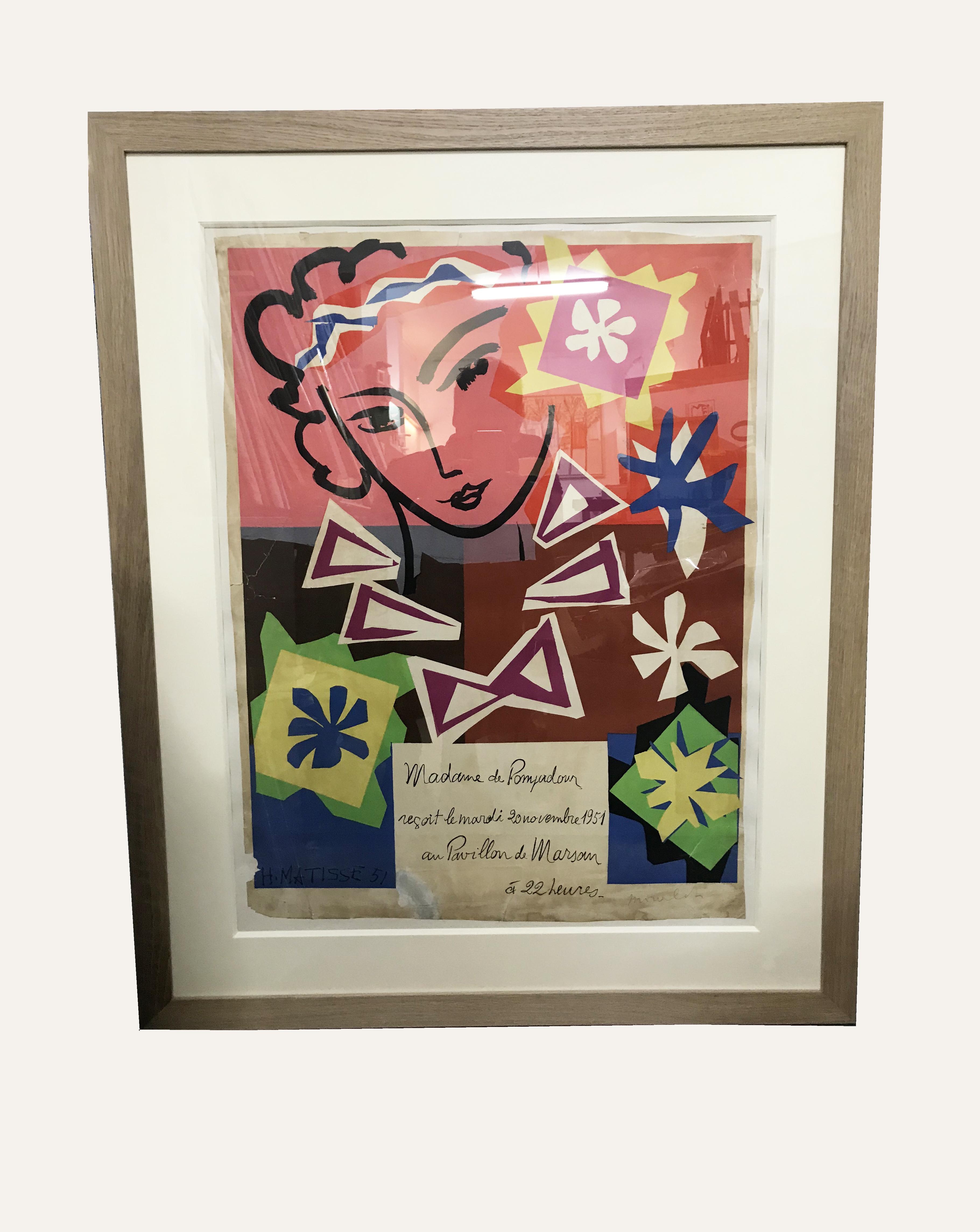 Lithogrphie de H. Matisse