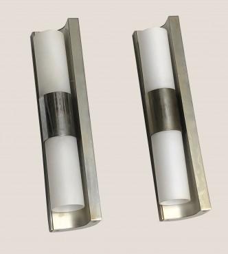 paire d'appliques en métal -Récupéré