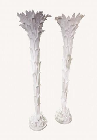 Paire de lampadaires dans l'esprit de Serge Roche