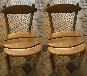 Suite de 8 chaises modele Thierry guillerme et chambron