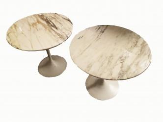 paire de tables basse E Saarinen Knoll Int 1968