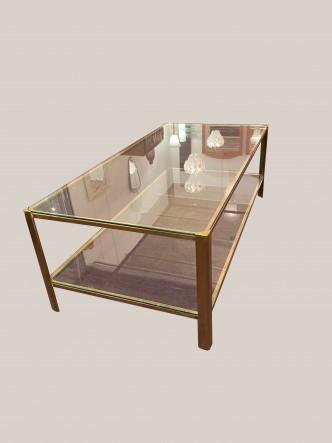 TABLE BASSE MALABERT A DOUBLE PLATEAUX détouré