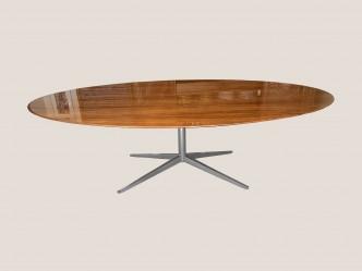 Table ovale florence Knoll en noyer 244*137
