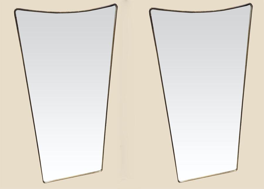 paire de miroirs en laiton dore1950