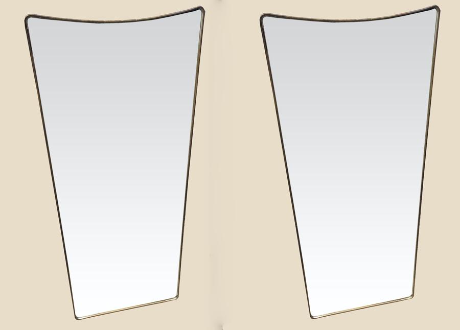paire de miroirs italiens 1950