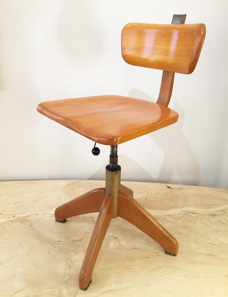 Chaise bois Giroflex n°1a
