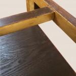 tables d'appoint bois doré détail