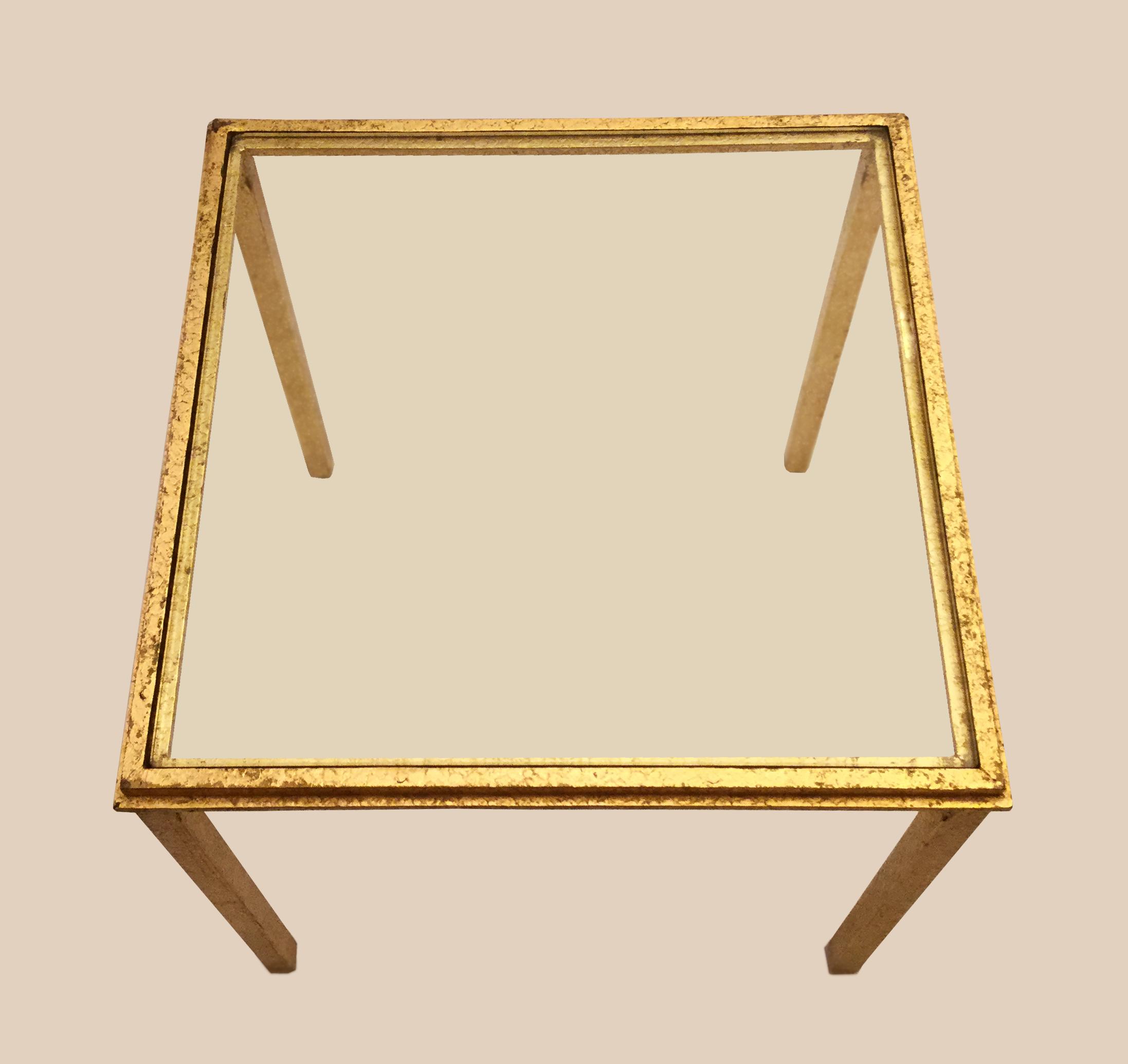 Table Basse En Verre Et Laiton Doré Galerie Yvan Royer