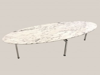 Table basse plateau oval en marbre 1