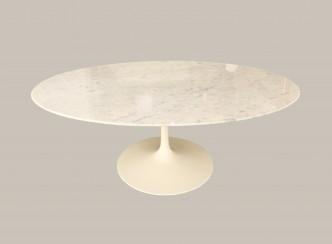 table basse knoll marbre blanc