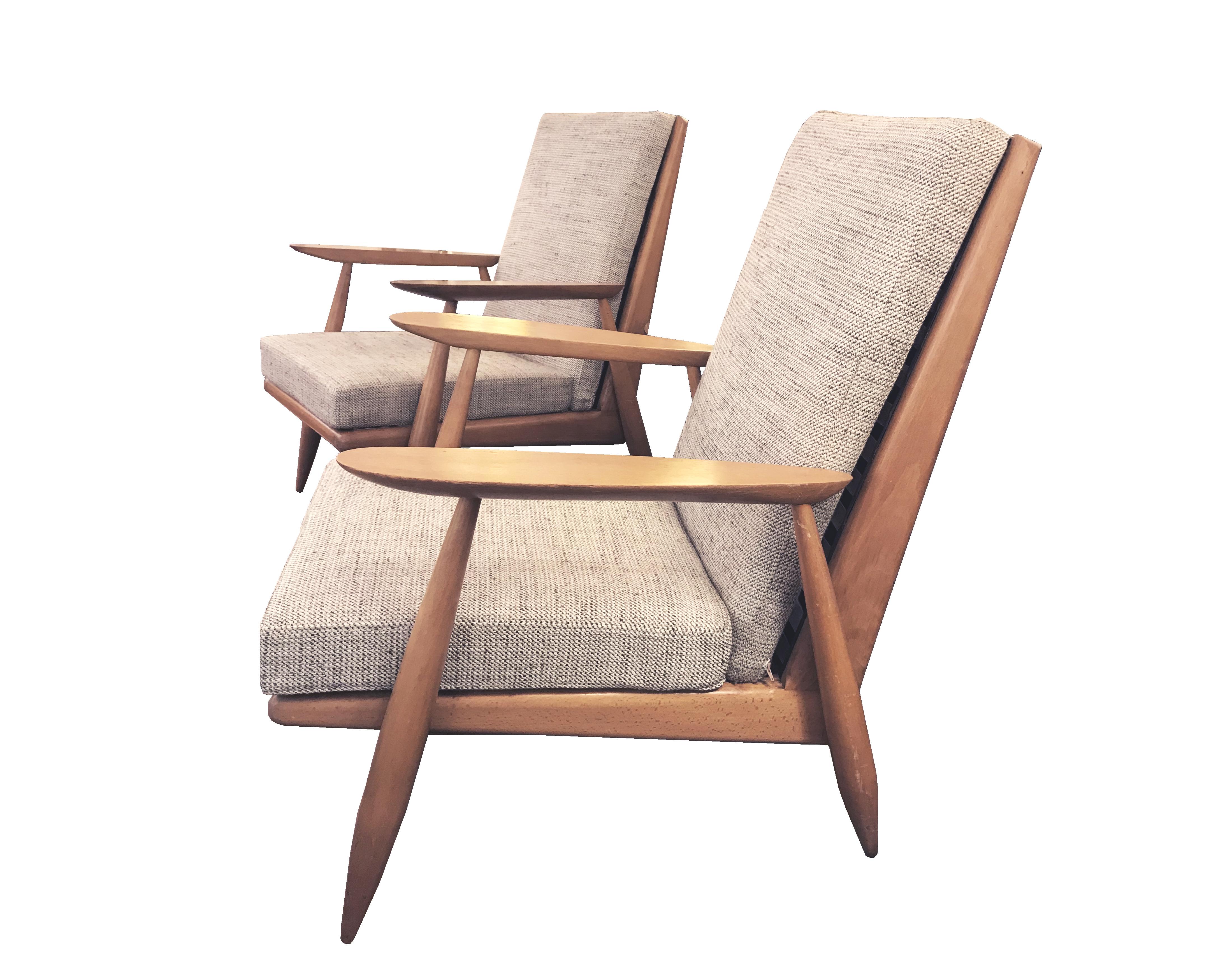 fauteuil gris vue 6