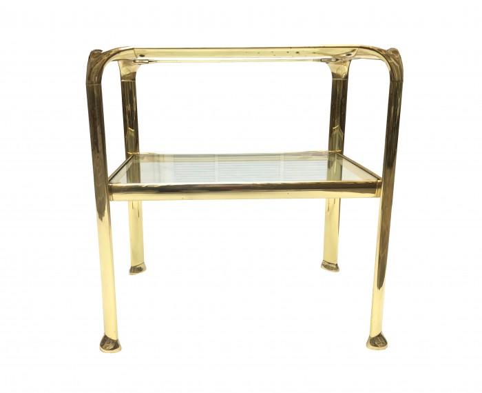 paire de tables gold vue 2
