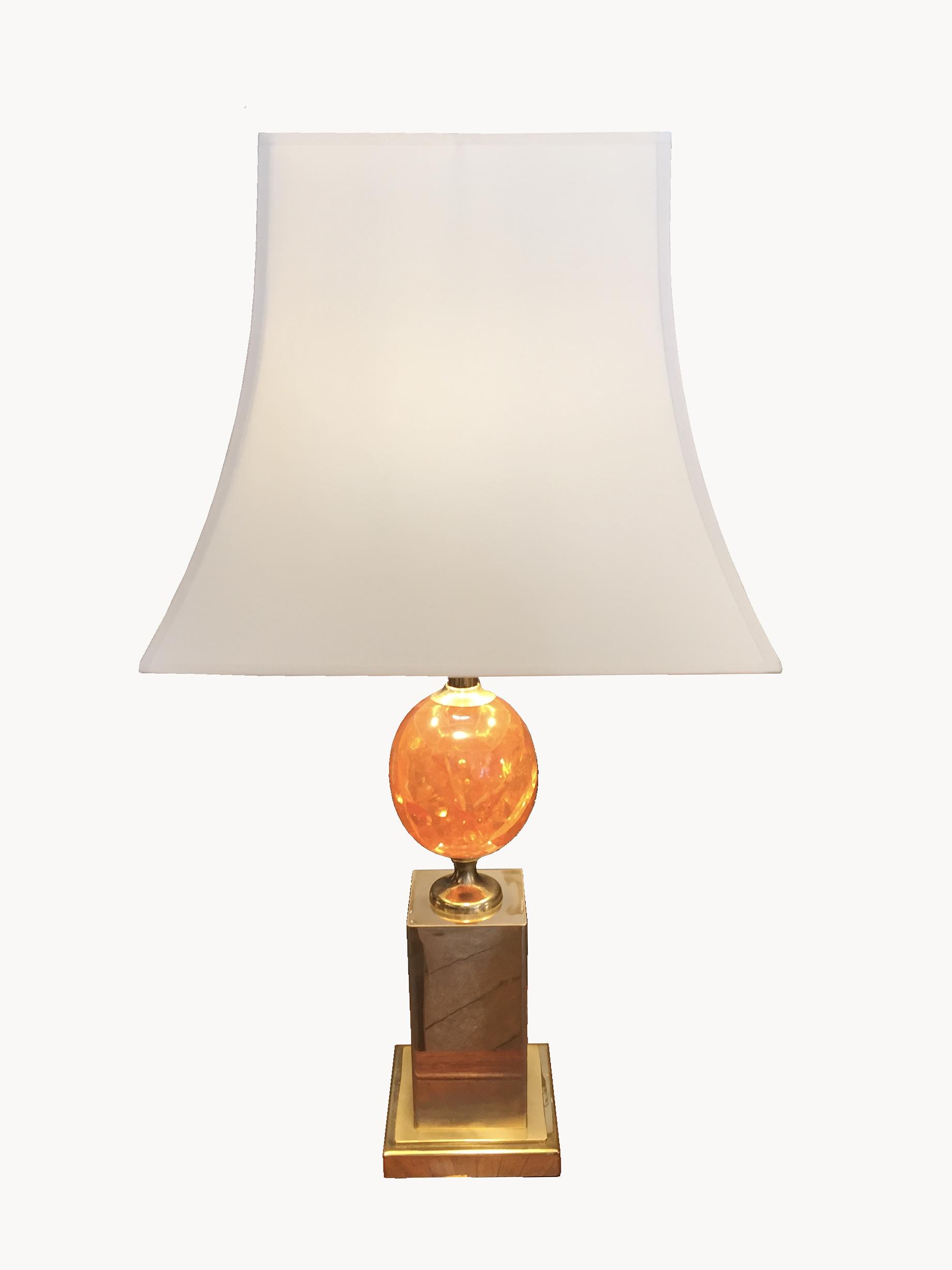 lampe oeuf résine
