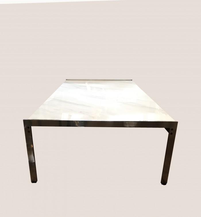 table basse en marbre vue 3