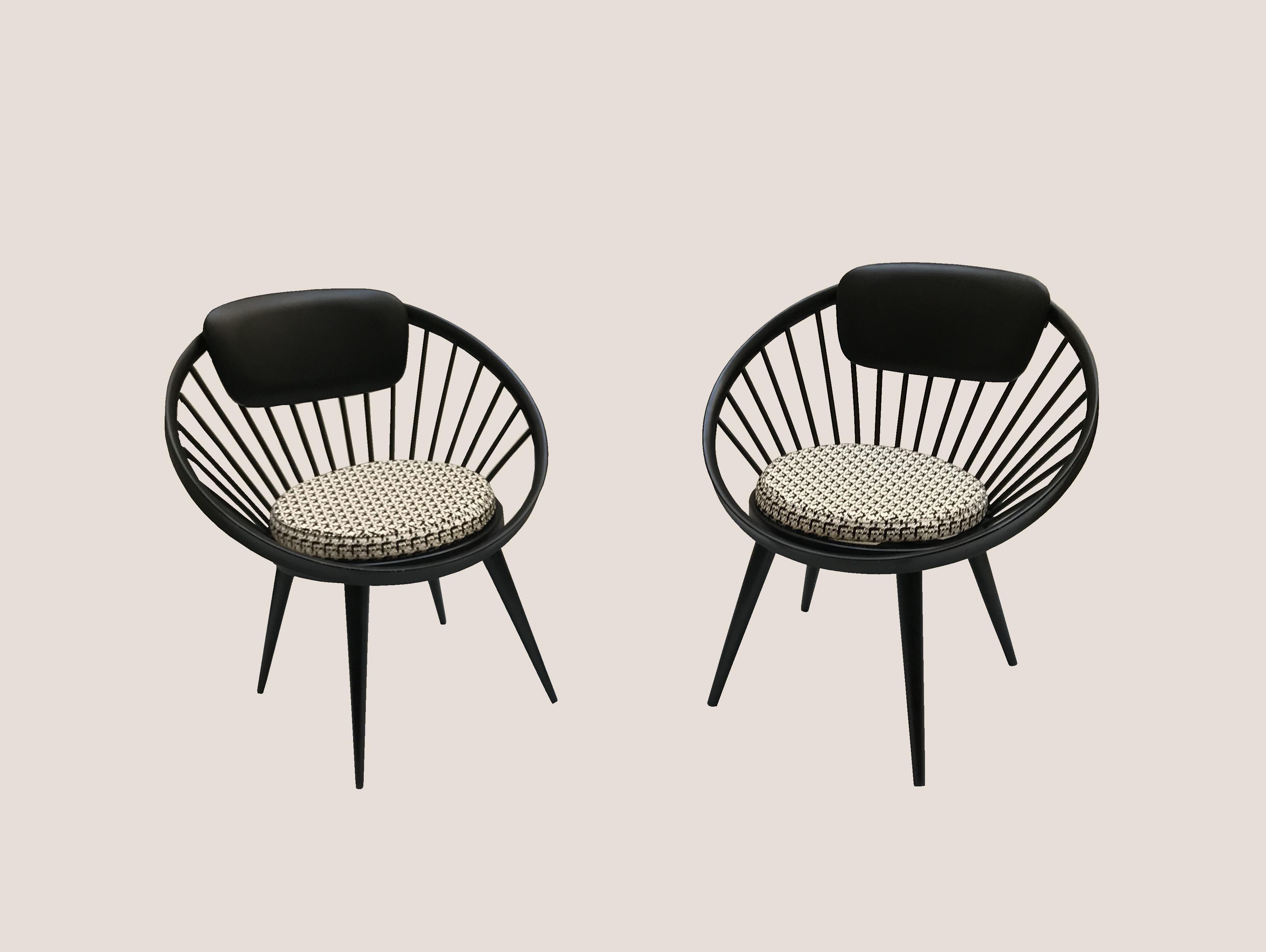 Paire de chaises Yngve Ekstrom