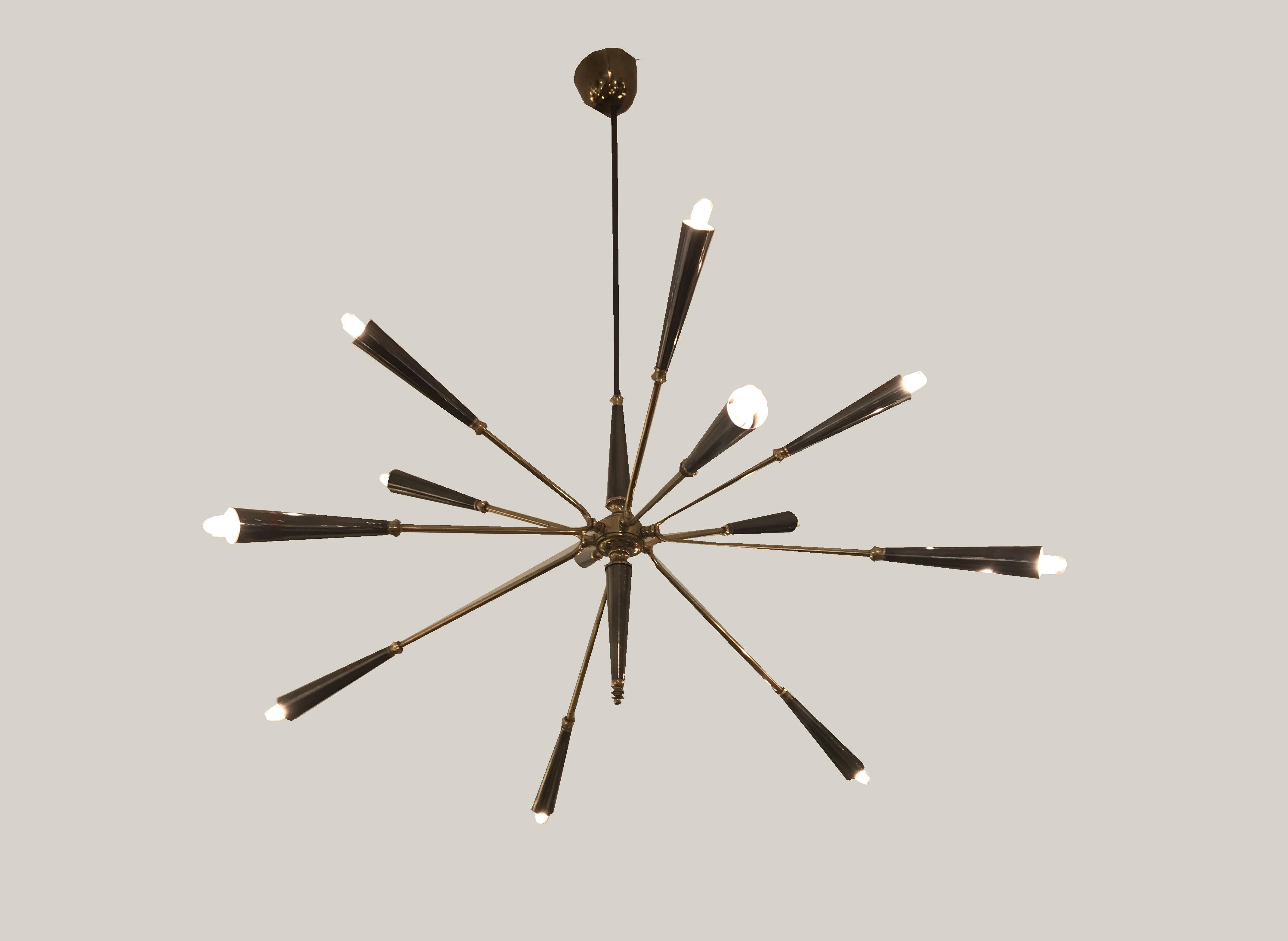 Lustre Spoutnik à 12 bras