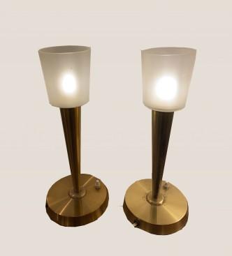 Paire de lampes en laiton doré 3