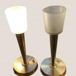 Paire de lampes en laiton doré copie