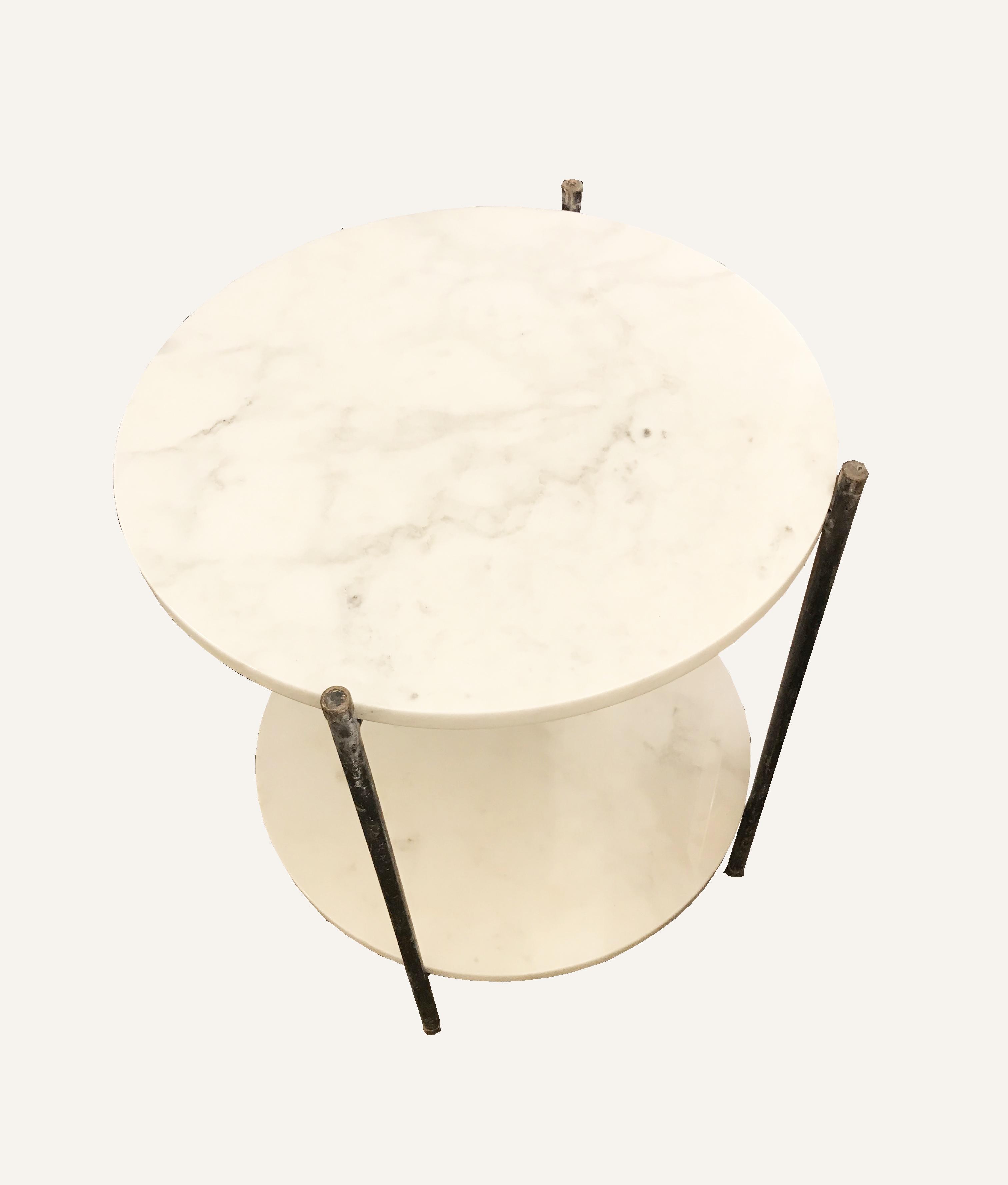 Petite table 2 plateaux en marbre 3