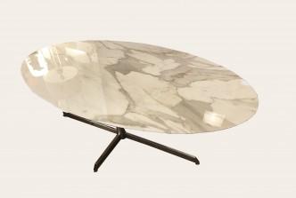 table ovale en marbre florence Knoll