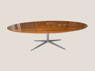 Table ovale florence Knoll en noyer 244*137